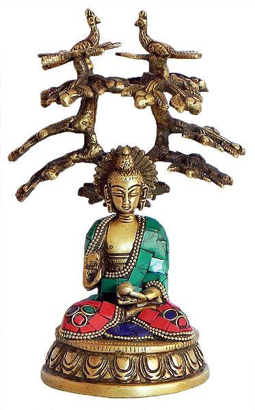 Lord Buddha Sitting Under Bodhi Tree