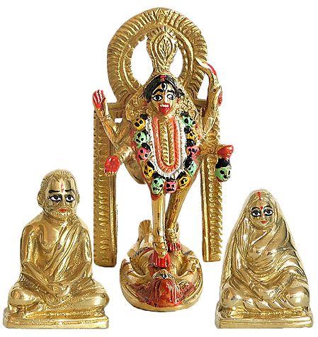 Dakshineshwar Kali with Ramakrishna Paramahansa and Sarada Ma