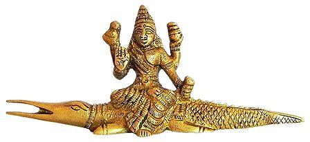 Goddess Ganga Sitting on Makara
