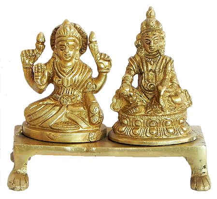 Lakshmi and Kubera