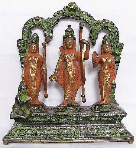 Rama, Lakshmana,Sita and Hanuman