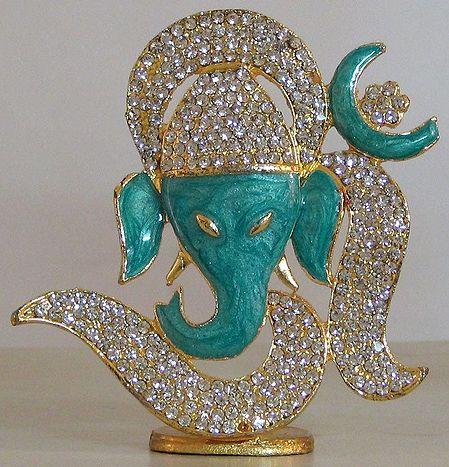 Stone Studded Om Ganesha