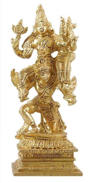 Garuda Carrying Vishnu and Lakshmi