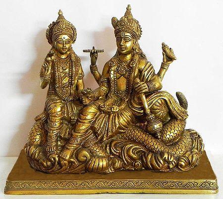 Vishnu and Lakshmi Sitting on Anant Nag