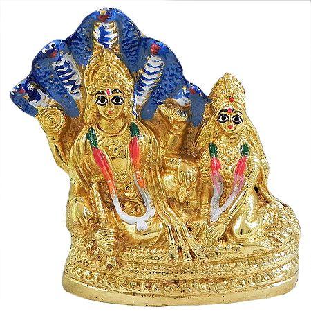Lakshmi Narayan Sitting under Sheshanaga