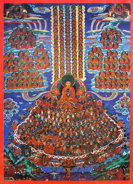 Guruparampara (Refuge Tree) - Wall Hanging - Thangka Screen Print