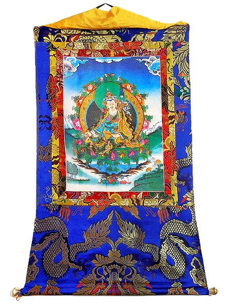 Guru Padmasambhava - Thangka Screen Print