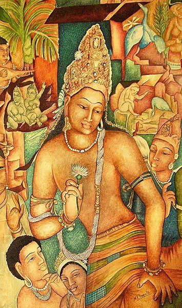 Ajanta Painting Reprint - Photo Print