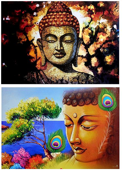 Lord Buddha - Set of 2 Posters