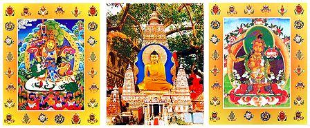 Buddha, Vaishravana and Manjusri - Set of 3 Posters