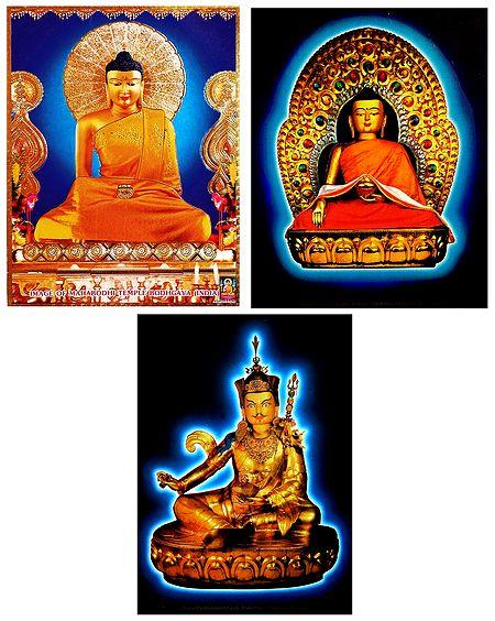 Lord Buddha and Guru Padmasmbhava - Set of 3 Posters