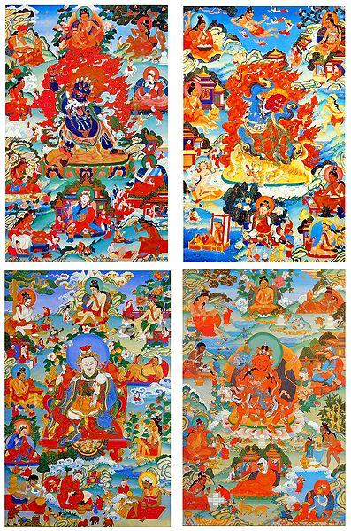 Manifestations of Padmasambhava - Set of 4 Posters