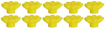 Set of Ten Lemon Aroma Floating Wax Candles