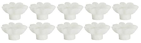 Set of Ten Jasmine Aroma Floating Wax Candles