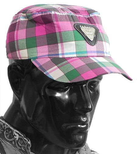 Multicolor Check Gents Golf Cap