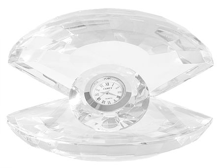 Clock in Glass Oyster