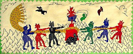 Samudramanthan - (Wall Hanging)