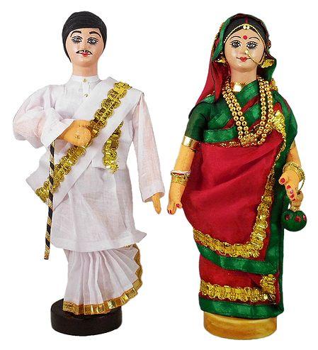 Bengali Couple - Cloth Doll