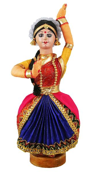 Bharatnatyam Dancer - Cloth Doll