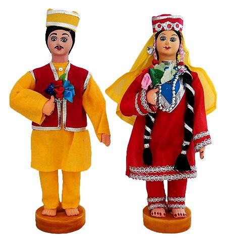 Pair of Kashmiri Costume Dolls