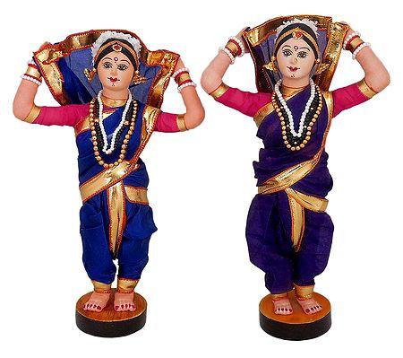 Pair of Tamasha Folk Dancers from Maharashtra