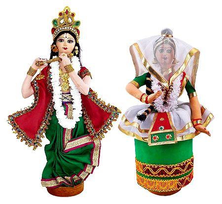 Radha Krishna - Manipuri Dancer Dolls