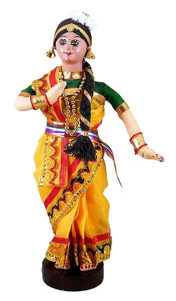 Mohini Attam Dancer - Cloth Doll