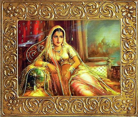 Rajput Princess - Wall Hanging
