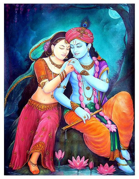 Secret Rendevous of Radha Krishna - Poster