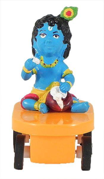 Krishna Sitting on Car