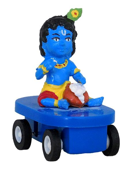 Krishna Sitting on Car