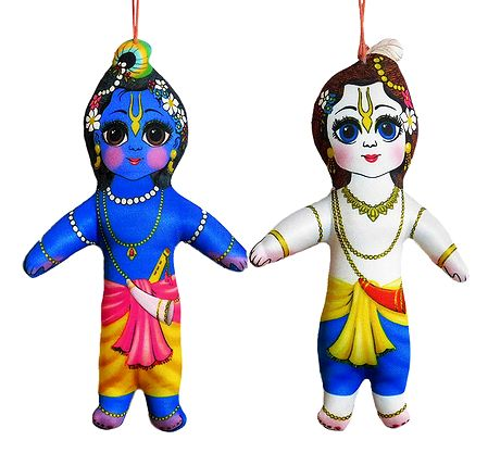 Krishna Balaram - Hanging Cute Cloth Doll