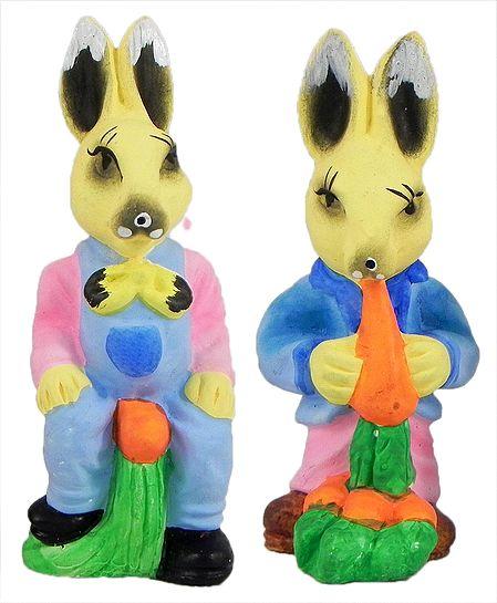 Set of 2 Cute Rabbits
