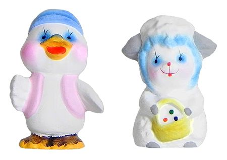 Baby Duck and Lamb - Set of 2