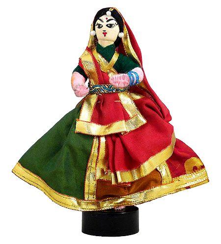 Gujrati Folk Dancer - Wire Doll