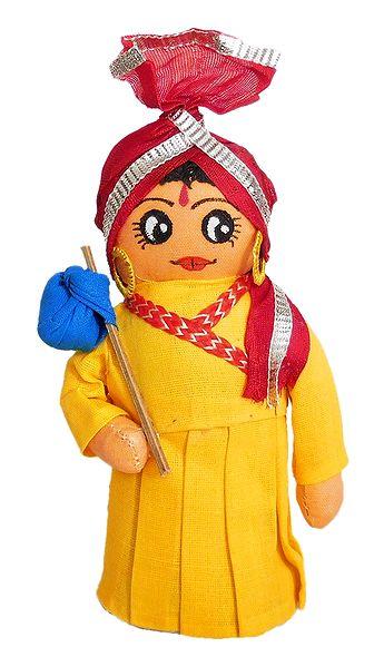 Gujrati Traveller - Cloth Doll