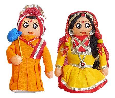 Gujrati Couple Doll