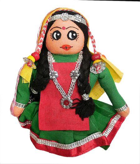 Kashmiri Apple Plucker Girl - Cloth Doll