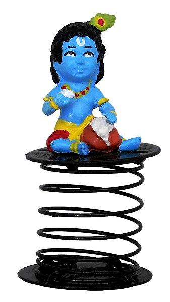 Bal Krishna Car Dashboard Springy Figure