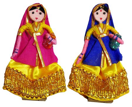 Pair of Rajasthani Women - Wire Doll
