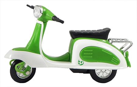 Green with White Toy Scooter