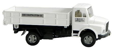 White Truck used for Construction Material