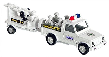 White Acrylic Army Toy Gun Carrier