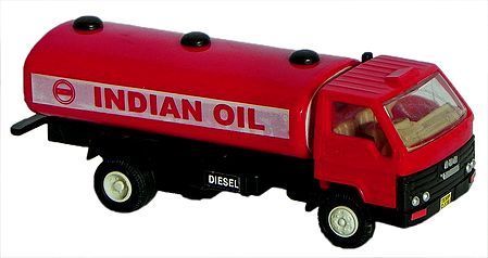 Red Toy Oil Tanker