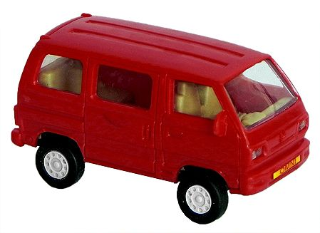 Red Acrylic Toy Car