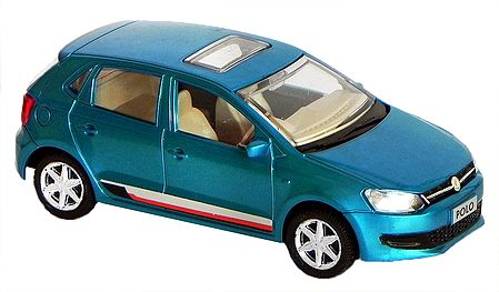 Cyan Blue Polo Car