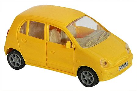 Yellow Acrylic Toy Car