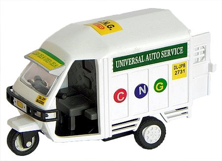 White Toy Auto Transporter