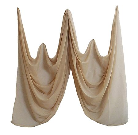 Beige Chiffon Dupatta for Women