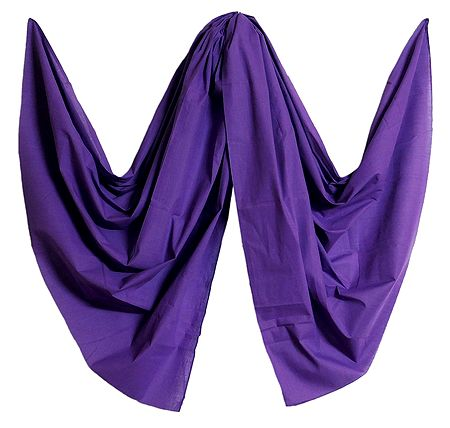 Purple Handloom Cotton Dupatta